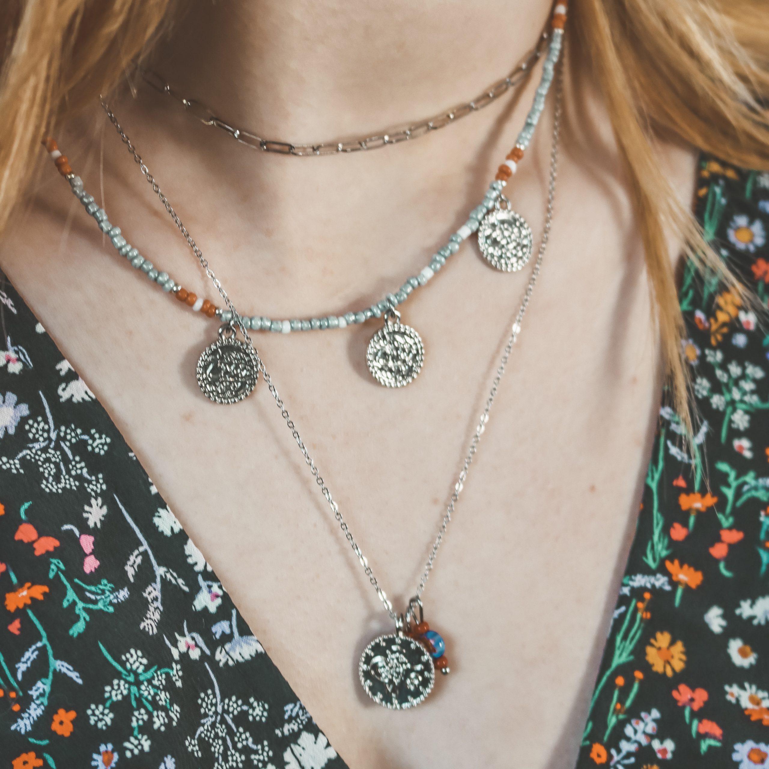 Fine jewelry: silver chain choker
