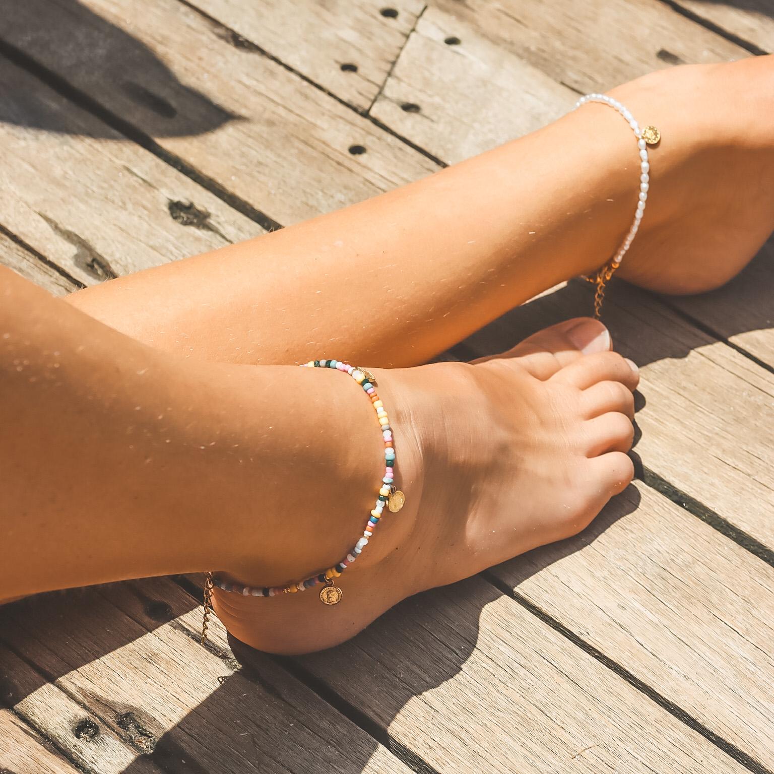 4 coins anklet multi